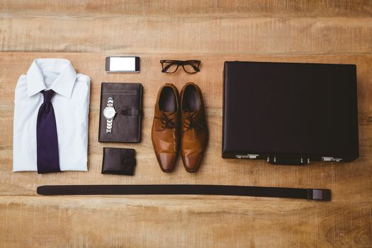 View of stuff for a businessman