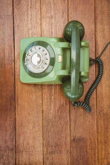 View of an old phone