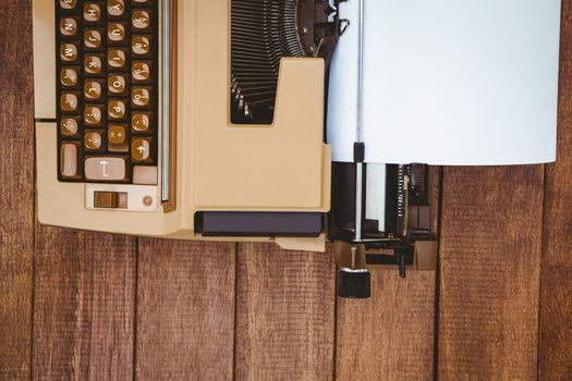 View of an old typewriter
