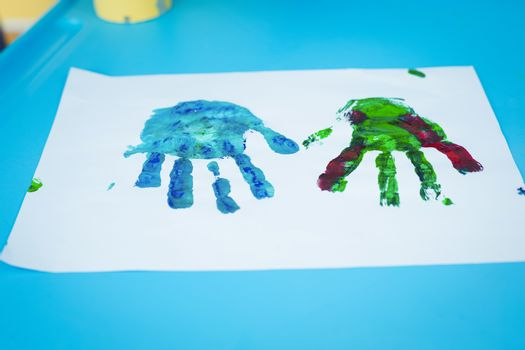 Picture of colourful hands