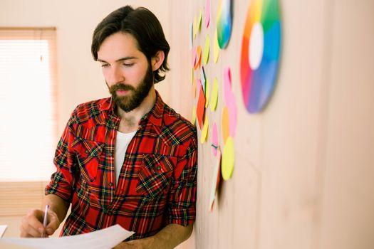 Creative businessman brainstorming ideas