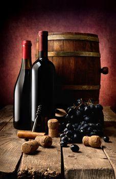 Wine theme in photo