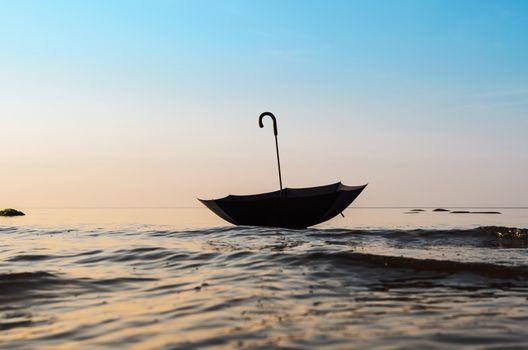 Umbrella on the sea surface