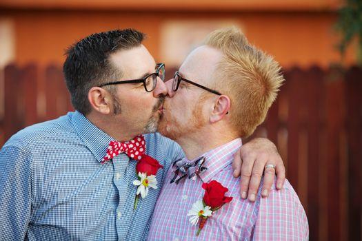 Married Men Kissing