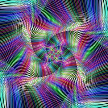 Colorful psychedelic spiral fractal background design