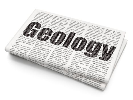 Science concept: Geology on Newspaper background