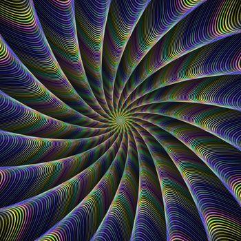 Color tentacles fractal design