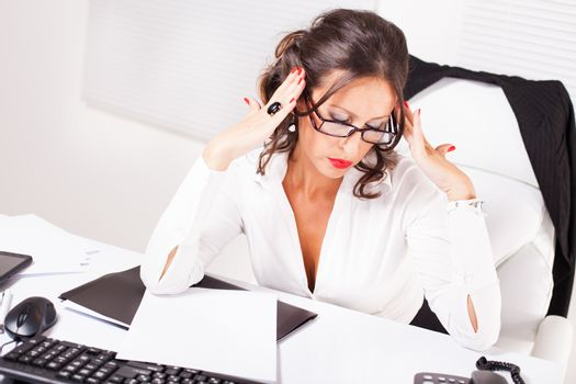 Businesswoman in stressed