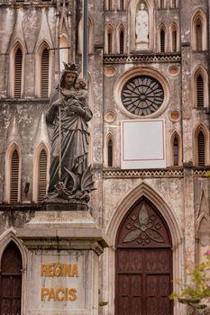 Statuary of church the St. Joseph's Cathedral in Hoan Kiem Hanoi, Vietnam.