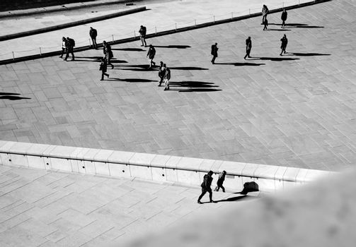 OSLO - MARCH 21: People hanging around in Opera house in Oslo