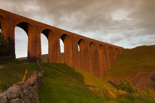 Old Arten Gill Viaduct in Yorkshire Dales National Park