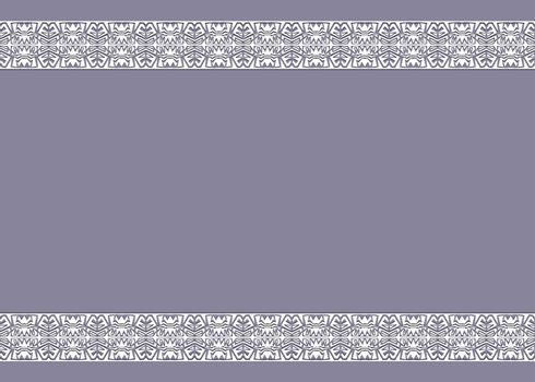 Vector vintage background with ornaments on the edges
