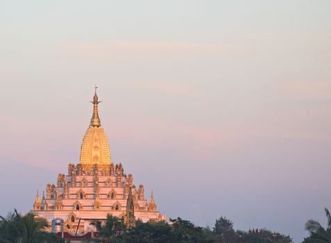 The Swal Daw Pagoda in Yangon