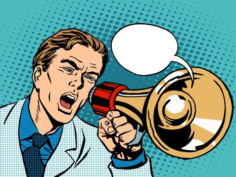 man megaphone policy promotion