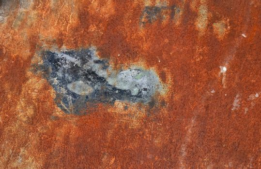 Bright rust stained corroded metal surface