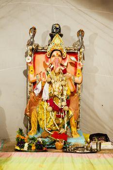 Idol of Ganesh during Ganpati Festival.