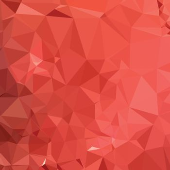 Low polygon style illustration of an american rose red abstract geometric background.