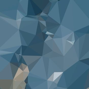 Low polygon style illustration of a cerulean frost blue abstract geometric background.