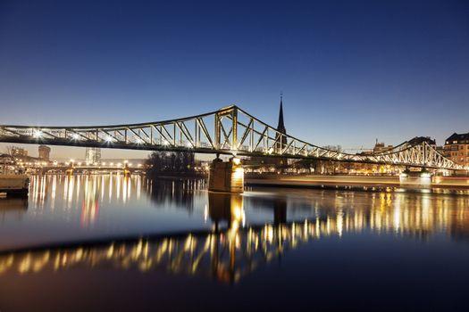 The Iron Bridge in Frankfurt