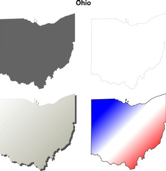 Ohio outline map set