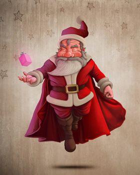 weihnachtsmann babbo natale einheimischer vater weihnachten