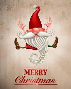Happy Christmas elf Greeting card