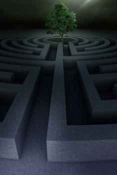 Tree into the maze