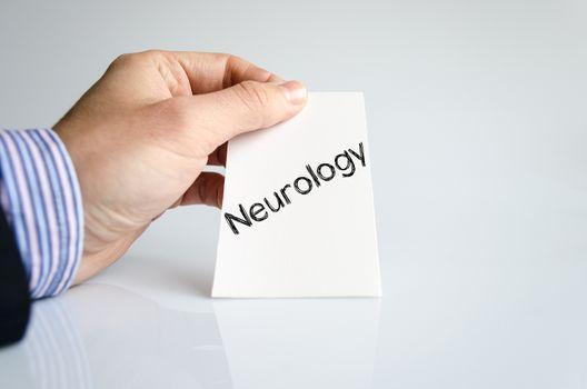 Neurology text concept