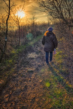 Walking on path
