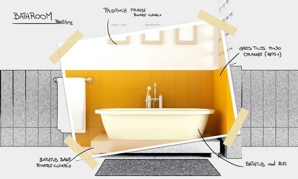 bathroom restyling project