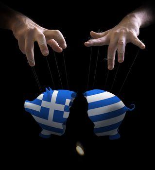 Greek crash and puppet master