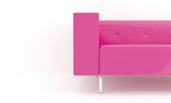 Pink sofa detail