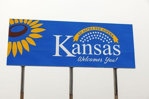 Kanas Welcome Sign