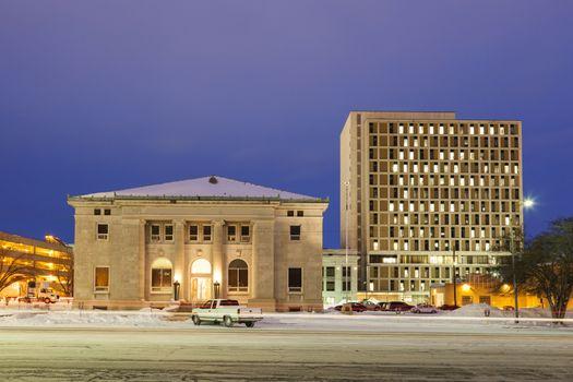 Architecture of Topeka at sunrise