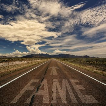 Road With the Word Fame
