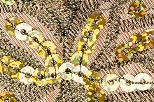 Fabric texture with spangles