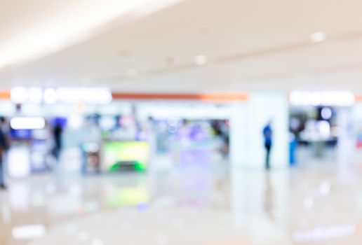 Defocus of Shopping center for background usage