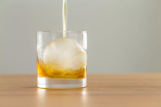 Pour of whiskey