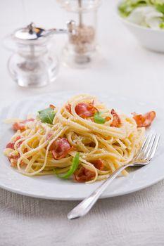 Carbonara Pasta With Bacon