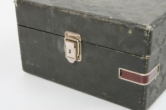 he castle and old gramophone needles compartment close-up