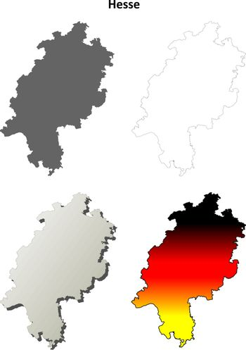 Hesse outline map set