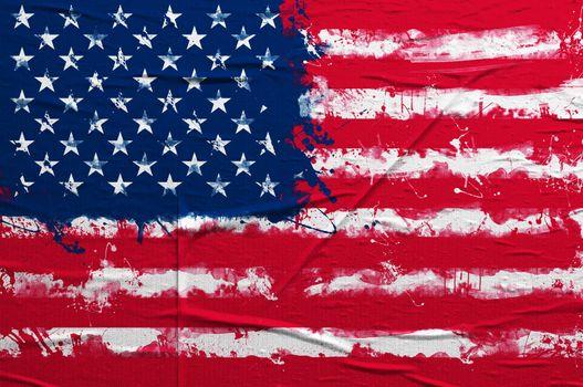 USA grunge flag