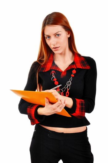 Business Woman writing notes