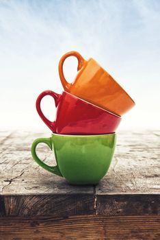 Multi Colored Coffee or Tea Cups