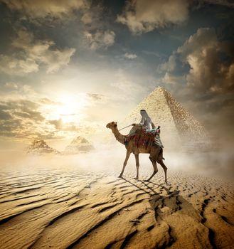 Pyramids in fog