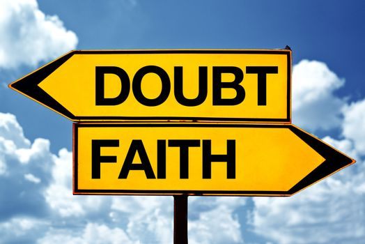 Doubt or fith, opposite signs