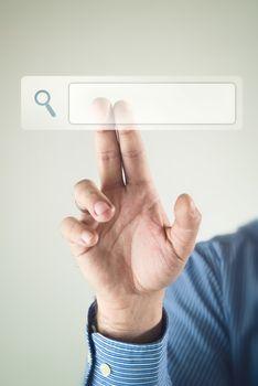 Internet search concept