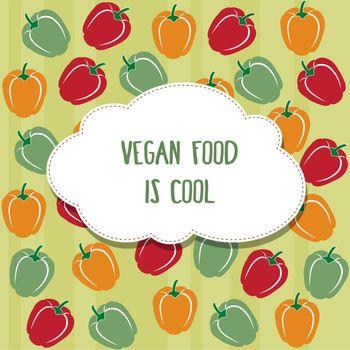Vegan background