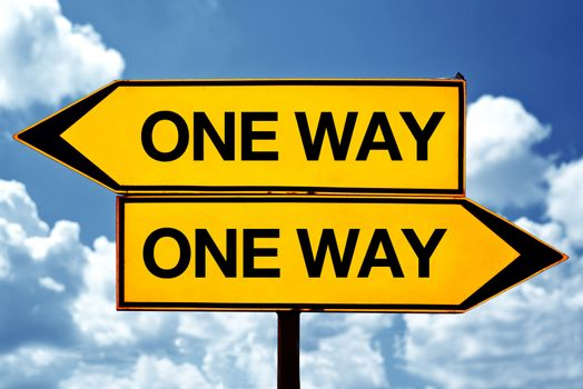 One way opposite signs