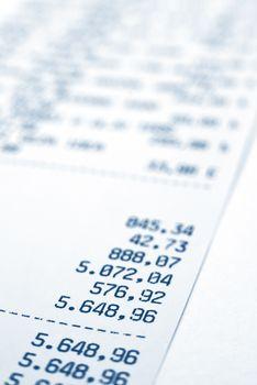 Shopping bill